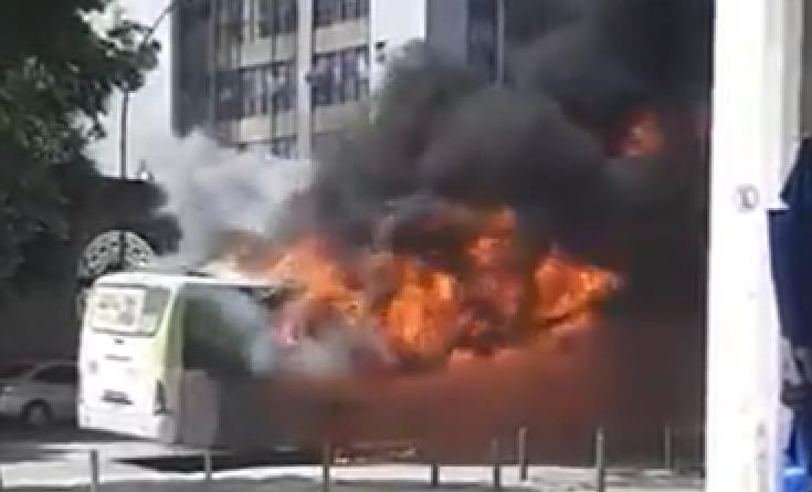 Fogo Ônibus Centro