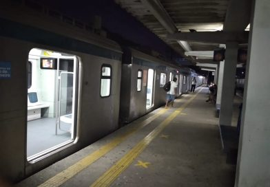 Trem estacionado